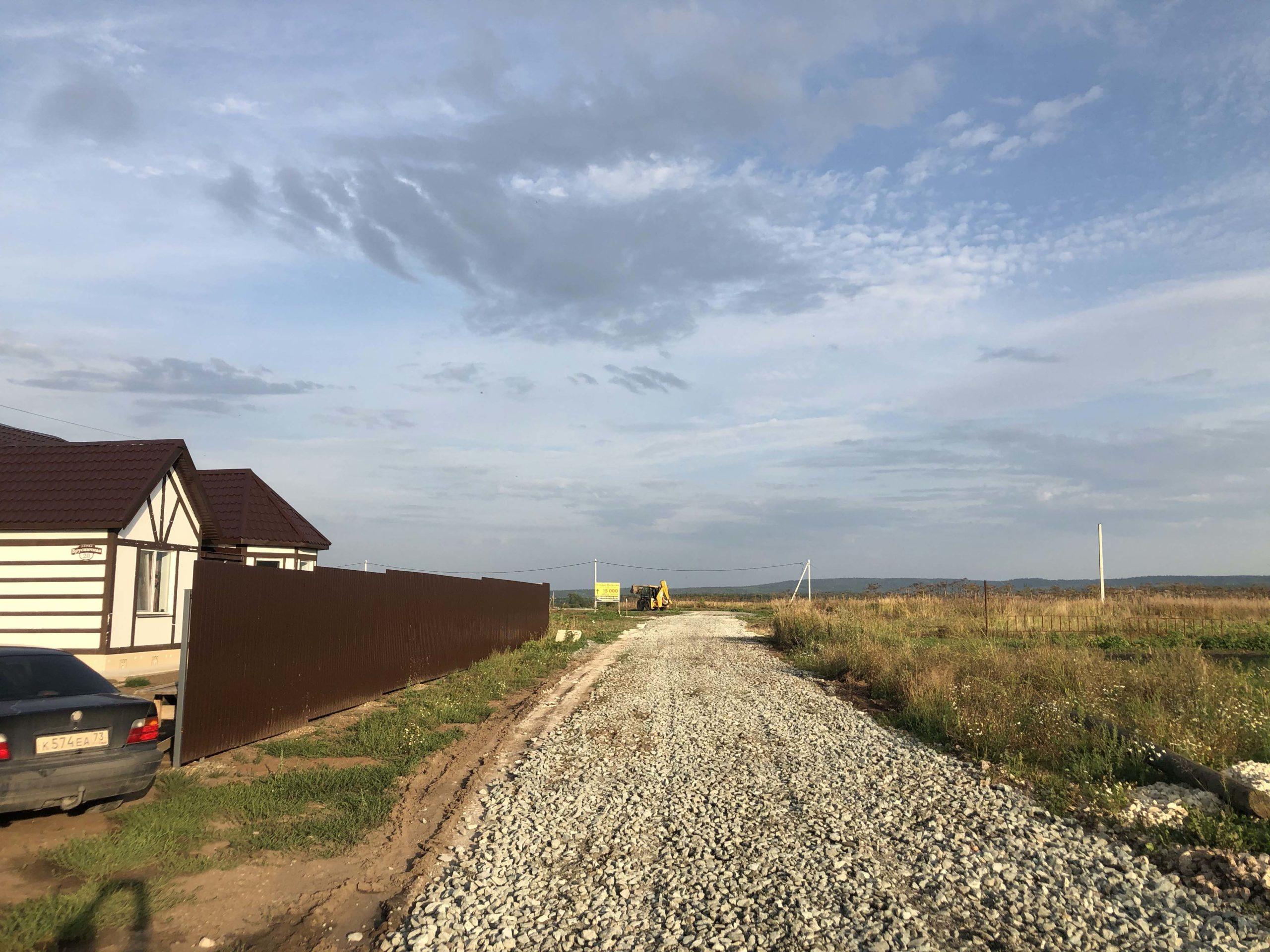 Закончено строительство центральной и правой квартальной дороги посёлка